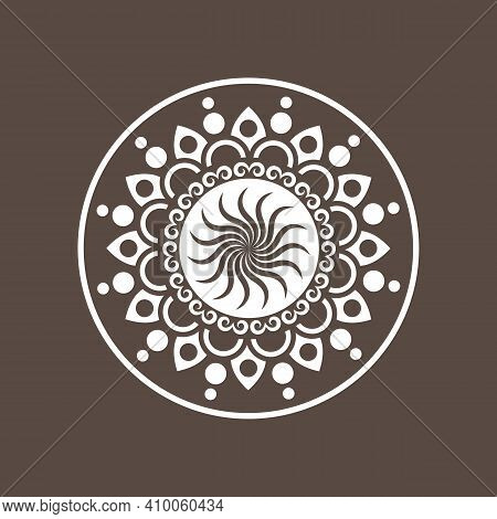 Circular Geometric Design Element(s) With Editable Lines (outline Is Not Expanded). Abstract Radial
