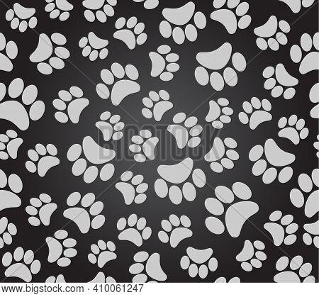 Background Animal Footprints, Dog Paw Puppy Paw, Cat Paw
