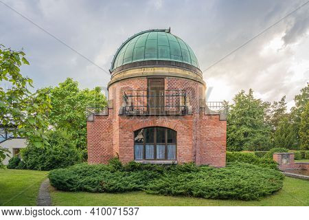 Old Historic Building Of Observatory Within Ondrejov Astronomy Institute. Deep Space Telescope Obser