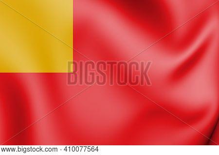 3d Flag Of Vilvoorde (flemish Brabant), Belgium. 3d Illustration.