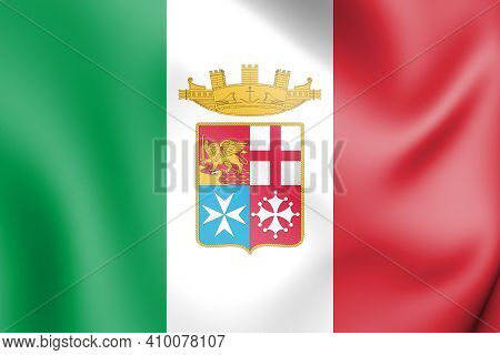 3d Naval Ensign Of Italy. 3d Illustration.