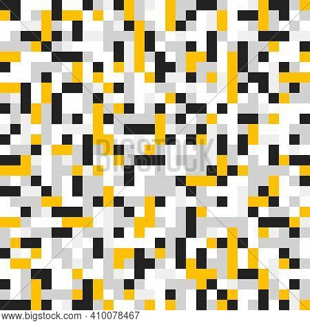 Mosaic Seamless Pattern, Geometric Chaotic Tiling Vector Background For Wallpapers, Wrapping Paper O