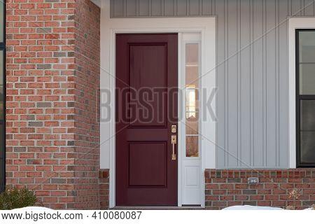 New Front Door Brown Home Wood Style