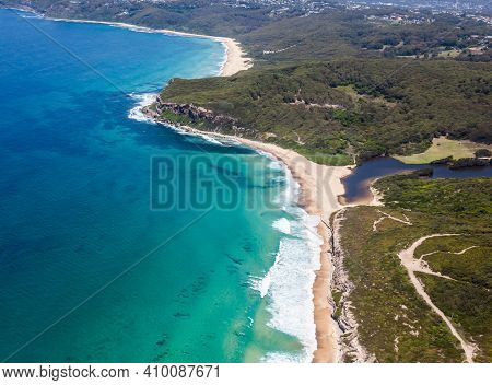 Burwood And Dudley Beach Aerial View - Newcastle Nsw Australia