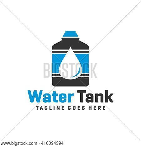 Water Tank Logo Design Or Water Reservoir