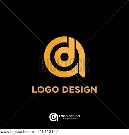 Initial Letter Ad Or Da Monogram Creative Logo