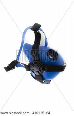 Multi-purpose Respirator Half Mask Or Toxic Dust Respirator Half Mask Isolated On White.