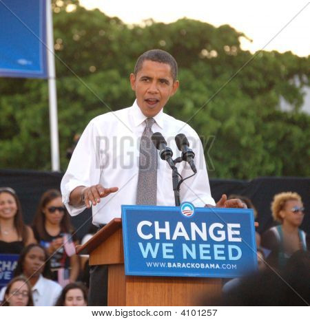 Barack At Bayfront Park Rally