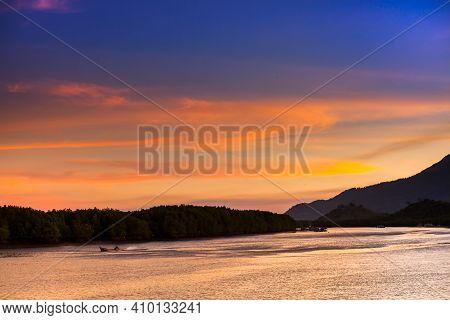 Colorful Sky On Sea At Tropicana