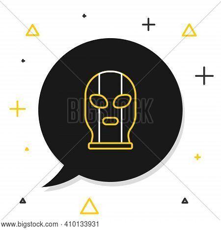 Line Mexican Wrestler Icon Isolated On White Background. Colorful Outline Concept. Vector