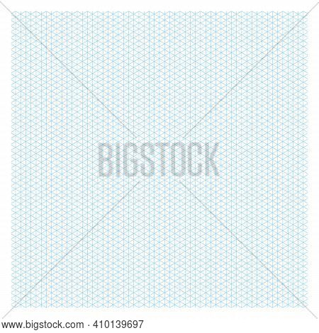 Grid Paper. Isometric Black Grid On White Background. Abstract Lined Transparent Illustration. Geome