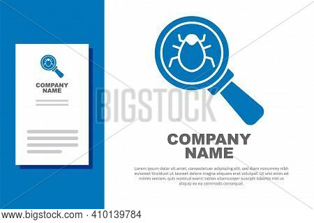 Blue System Bug Concept Icon Isolated On White Background. Code Bug Concept. Bug In The System. Bug