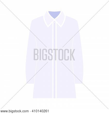 Business Blouse Icon. Flat Color Design. Vector Illustration.