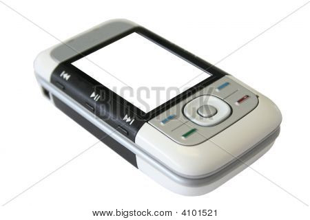 Cell Phone Isolated With White Screen