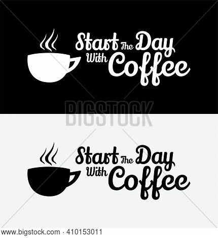 Typography Vector Graphic Of Coffee Typography, Coffee Template, Perfect For Coffee Shop, Coffee Com