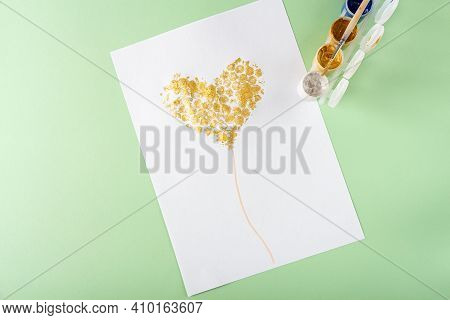 Diy And Kids Creativity Step By Step Instruction: Drawing Greeting Card Using Bubble Wrap. Step5 We