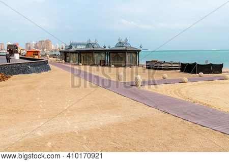 General View Of City Katara Beach In Doha, Qatar