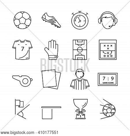 Football Icon Set Isolated On White Background. Football Icon Set Trendy And Modern Football Symbol