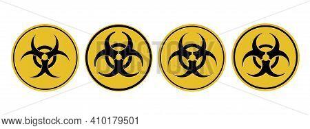 Danger Attention Sign Viral Danger. Warning. Biological And Radiation Hazard Illustration.