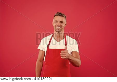 Cafe Bar Barista Job Position. Cook Good Food At Home. Cafe Staff. Barista Worker. Man Cook Wear Apr