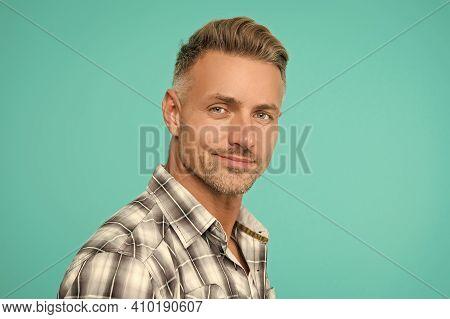 Male Natural Beauty. Man Well Groomed. Barber Shop Concept. Barber Hairdresser. Man Good Looking Mod