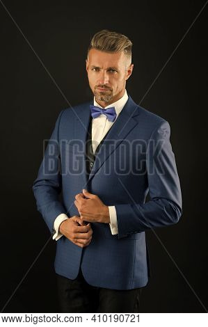 Formal And Business Fashion. Groomed Male On Special Event. Its Wedding Day. Stylish Art Director. R