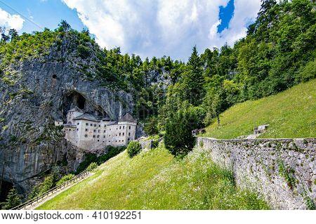 Predjama Castle In Postojna Cave Panorama, Slovenia