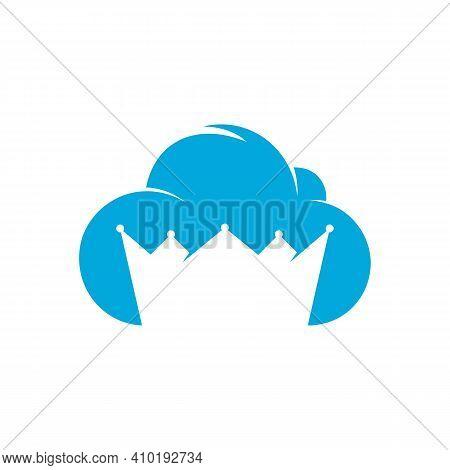 Cloud King Logo Designs Concept Vector, King Hosting Logo Template
