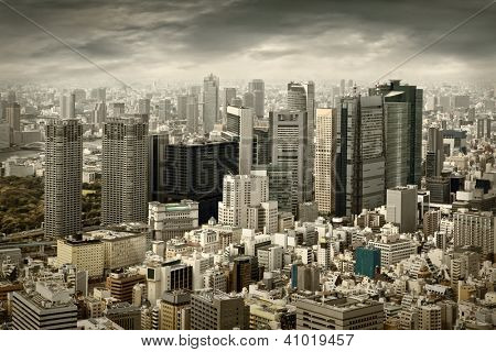 City view of skyscarpers
