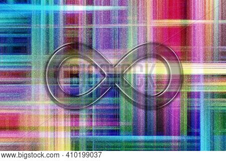Infinity Symbol, Eternal, Endless, Infinity Sign, Colorful Checkered Background
