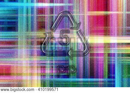 Pp, Plastic Recycling Symbol Pp 5, Colorful Checkered Background