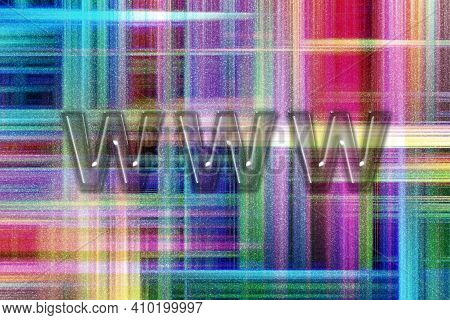 Www Web Site, Internet Http Address Www, Colorful Checkered Background