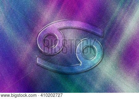 Cancer Zodiac Sign, Horoscope Astrology Background, Cancer Horoscope Symbol, Colored Pattern Backgro