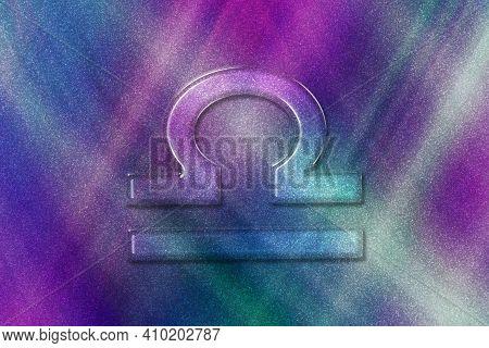 Libra Zodiac Sign, Horoscope Astrology Background, Libra Horoscope Symbol, Colored Pattern Backgroun