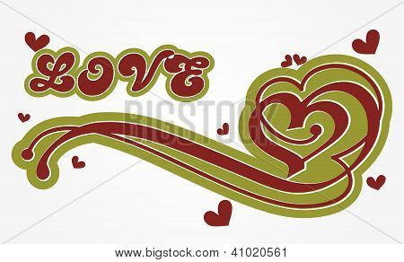 Abstract Valentine's Day Card Vector