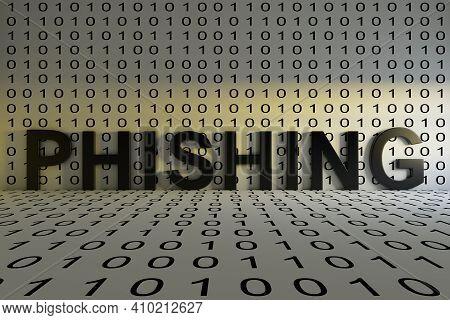 Phishing Concept Text Sunlight 3d Render Illustration