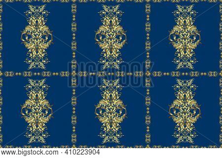 Classical Luxury Old Fashioned Damask Ornament, Royal Victorian. Raster Damask Seamless Pattern Back