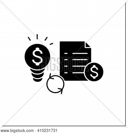 Great Business Plan Glyph Icon. Perfect Idea For Making Money. Startup Project Foundation. Advantage