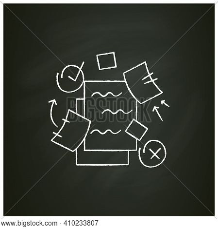 To Do List Chalk Icon. To Do Plan With Distraction Elements Filled Flat Sign. Concept Of Mind Focus,