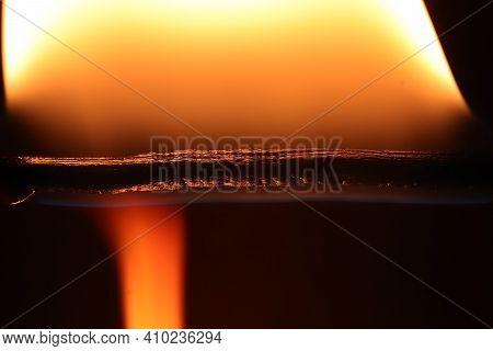 Glowing Dangerous Burl Light Backdrop. Danger Blazing Flame. Burning Flames Background. Blaze Fire T