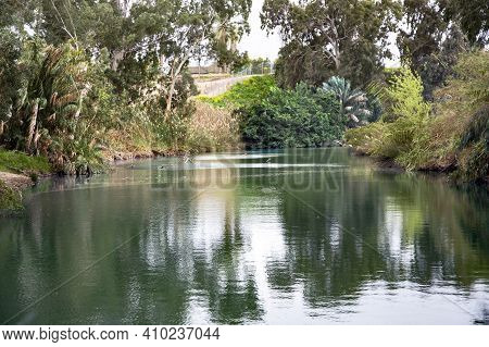 The Jordan River Is The Famous River In The World. Israel. In Christianity, Jordan Is The Place Of T