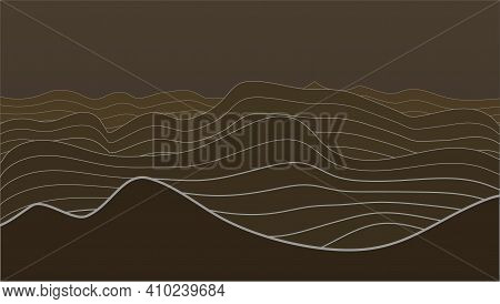 3d Abstract Elevation Contour Topography Line Map