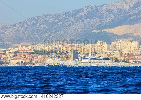 Split, Croatia - January 1, 2000: View Of Split On A Sunny Day