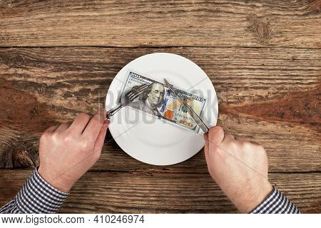 Hundred Dollars On A Plate. Cuts A Dollars