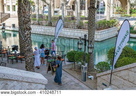 Dubai, Uae - April 8. 2018. An Area Madinat Jumeirah