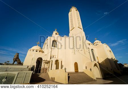 Public Cathedral Coptic Egyptian Church At The Sky Background