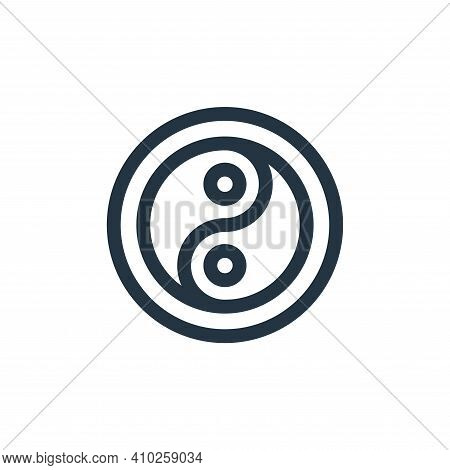 ying yang icon isolated on white background from hippies collection. ying yang icon thin line outlin