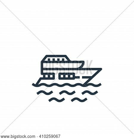 yacht icon isolated on white background from travel collection. yacht icon thin line outline linear
