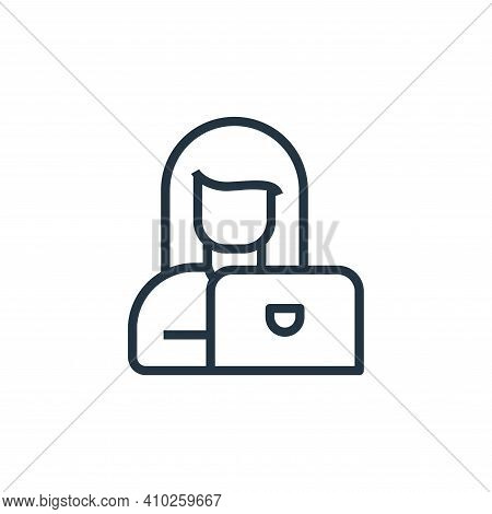 work icon isolated on white background from stay at home collection. work icon thin line outline lin