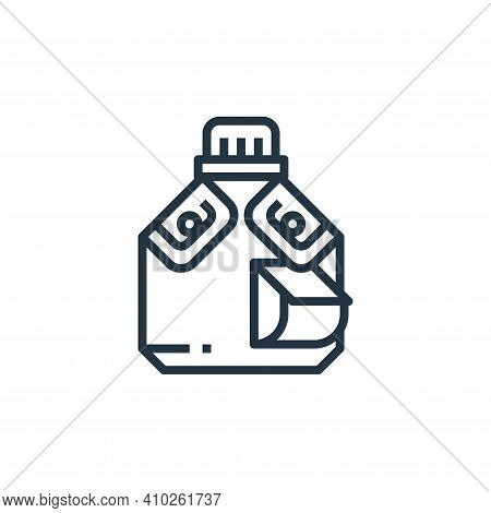 water bottle icon isolated on white background from camping collection. water bottle icon thin line